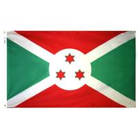 3x5 ft. Nylon Burundi Flag Pole Hem Plain
