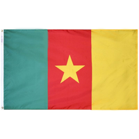 2x3 ft. Nylon Cameroon Flag with Heading and Grommets