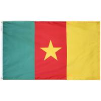 3x5 ft. Nylon Cameroon Flag Pole Hem Plain