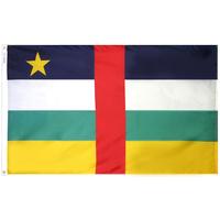 2x3 ft. Nylon Central African Republic Flag Pole Hem Plain
