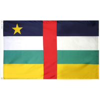 3x5 ft. Nylon Central African Republic Flag with Heading and Grommets