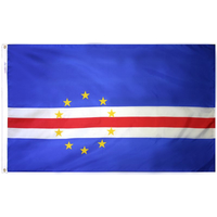 5x8 ft. Nylon Cape Verde Flag with Heading and Grommets