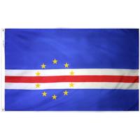 4x6 ft. Nylon Cape Verde Flag Pole Hem Plain