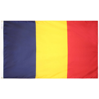 5x8 ft. Nylon Chad Flag with Heading and Grommets