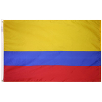 2x3 ft. Nylon Colombia Flag with Heading and Grommets