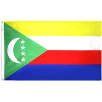 5x8 ft. Nylon Comoros Flag with Heading and Grommets