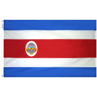 5x8 ft. Nylon Costa Rica Flag with Heading and Grommets