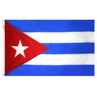 2x3 ft. Nylon Cuba Flag Pole Hem Plain