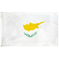 5x8 ft. Nylon Cyprus Flag with Heading and Grommets