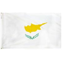 4x6 ft. Nylon Cyprus Flag Pole Hem Plain