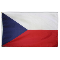4x6 ft. Nylon Czech Republic Flag Pole Hem Plain