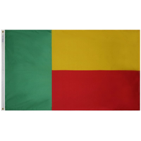 4x6 ft. Nylon Benin Flag Pole Hem Plain