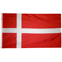 5x8 ft. Nylon Denmark Flag with Heading and Grommets