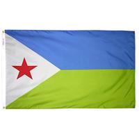 4x6 ft. Nylon Djibouti Flag Pole Hem Plain