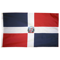 4x6 ft. Nylon Dominican Republic Flag Pole Hem Plain