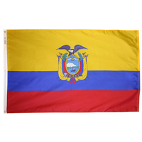 5x8 ft. Nylon Ecuador Flag with Heading and Grommets