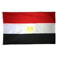 3x5 ft. Nylon Egypt Flag Pole Hem Plain