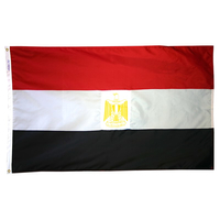 5x8 ft. Nylon Egypt Flag with Heading and Grommets