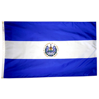 5x8 ft. Nylon El Salvador Flag with Heading and Grommets