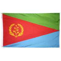 2x3 ft. Nylon Eritrea Flag with Heading and Grommets