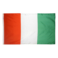 4x6 ft. Nylon Cote d'Ivoire Flag Pole Hem Plain