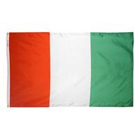 4x6 ft. Nylon Cote d'Ivoire Flag Pole Hem Plain