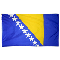 2x3 ft. Nylon Bosnia-Herzegovina Flag Pole Hem Plain