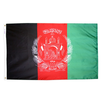 5x8 ft. Nylon Afghanistan Flag with Heading and Grommets