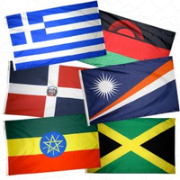 4x6 ft. Duawavez Nylon U.N. 193 Member Flag Set with Heading and Grommets