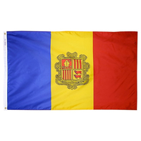 3x5 ft. Nylon Andorra Flag with Heading and Grommets