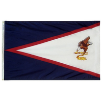 6x10 ft. Nylon American Samoa Flag with Heading and Grommets