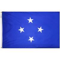 3x5 ft. Nylon Micronesia Flag Pole Hem Plain
