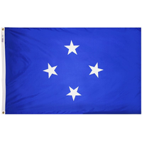 4x6 ft. Nylon Micronesia Flag Pole Hem Plain