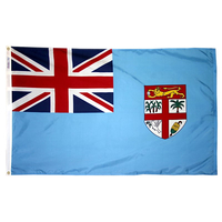 5x8 ft. Nylon Fiji Flag with Heading and Grommets