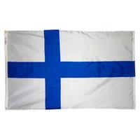3x5 ft. Nylon Finland Flag Pole Hem Plain