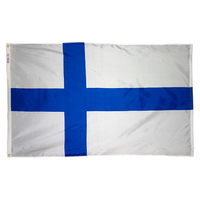 5x8 ft. Nylon Finland Flag with Heading and Grommets