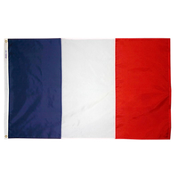 4x6 ft. Nylon France Flag Pole Hem Plain