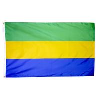 3x5 ft. Nylon Gabon Flag Pole Hem Plain