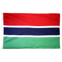3x5 ft. Nylon Gambia Flag with Heading and Grommets