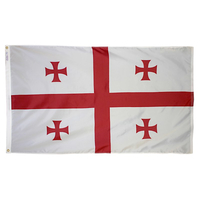 5x8 ft. Nylon Georgia Republic Flag with Heading and Grommets