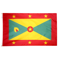 4x6 ft. Nylon Grenada Flag with Heading and Grommets