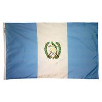3x5 ft. Nylon Guatemala Flag Pole Hem Plain