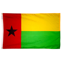 3x5 ft. Nylon Guinea Bissau Flag Pole Hem Plain