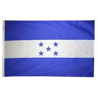 3x5 ft. Nylon Honduras Flag Pole Hem Plain
