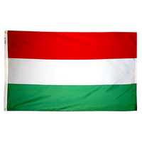 4x6 ft. Nylon Hungary Flag with Heading and Grommets