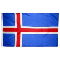 2x3 ft. Nylon Iceland Flag Pole Hem Plain