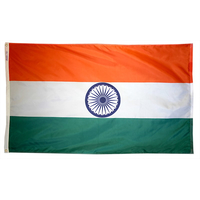 5x8 ft. Nylon India Flag with Heading and Grommets