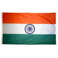 3x5 ft. Nylon India Flag Pole Hem Plain