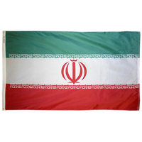 3x5 ft. Nylon Iran Flag with Heading and Grommets