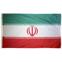 3x5 ft. Nylon Iran Flag Pole Hem Plain